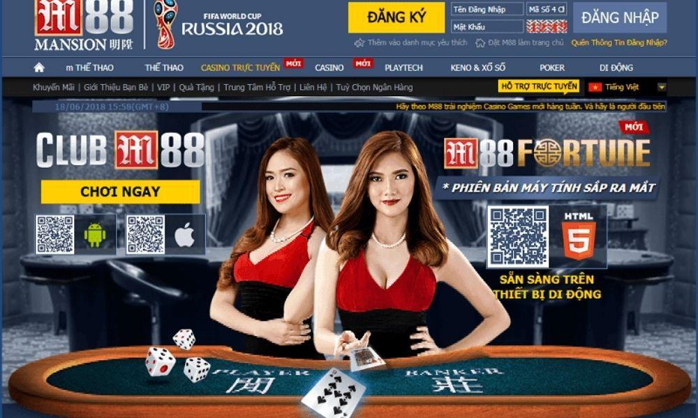Các game cá cược trực tuyến tại M88