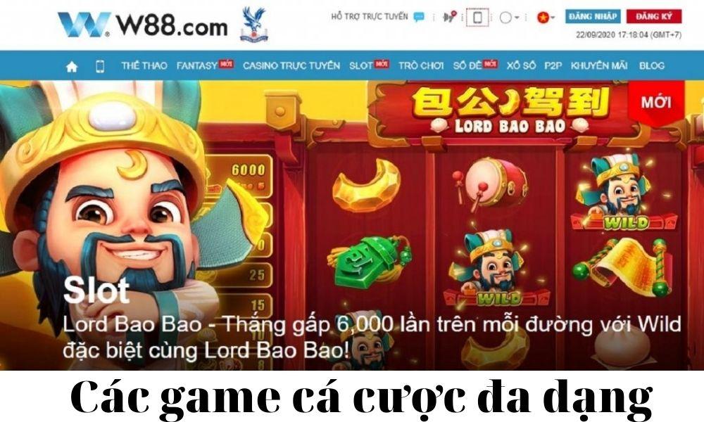 W88 có các game cá cược đa dạng