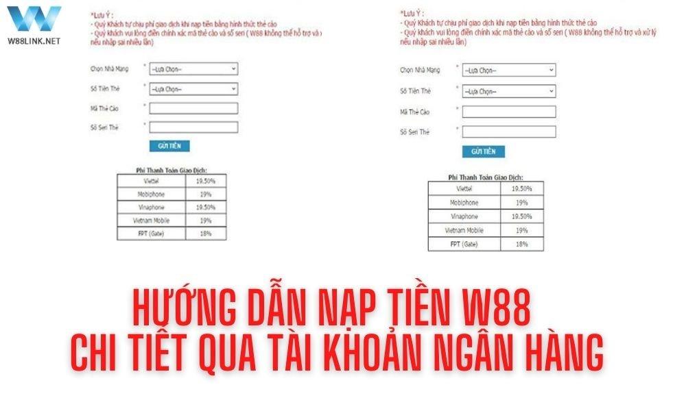 Nạp tiền W88 _ Chi tiết cách gửi tiền W88